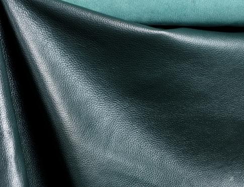 Галантерейная кожа КРС с плитой ( флоттер темно зеленый)