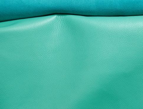 Галантерейная кожа КРС с плитой (флоттер бирюзовый)
