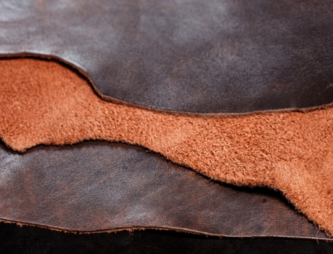 Галантерейная кожа КРС - крэк конъячно - коричневый