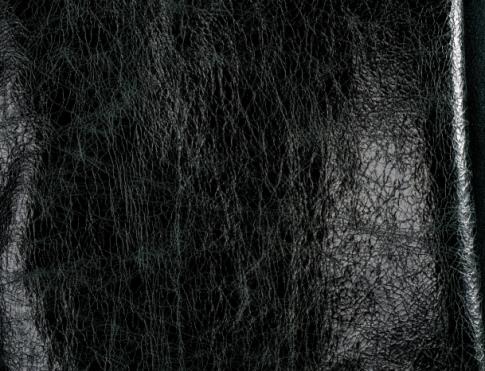 Одежная кожа О 027 черная мятая
