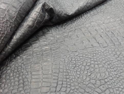 Одежная кожа ОР 09 серо черный кроко