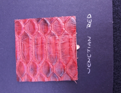Экзотическая кожа Питон (Venetian red)