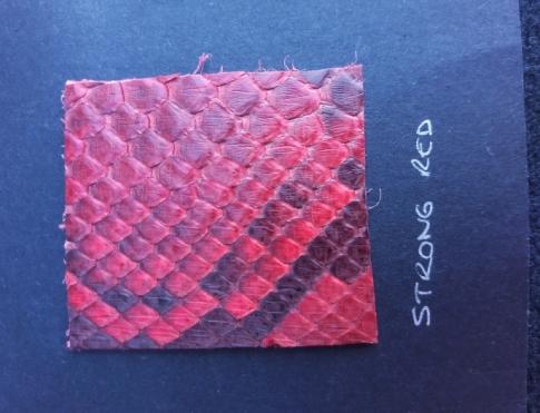 Экзотическая кожа Питон (Strong red)
