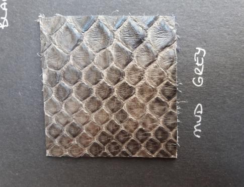 Экзотическая кожа Питон (Mud gray)