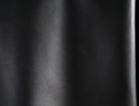 Обувная кожа М 022 черный матовый