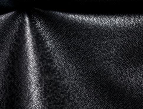 Обувная кожа КРС с плитой (флоттер черный)