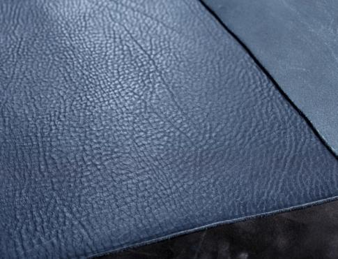 Обувная кожа КРС с плитой (флоттер) синий