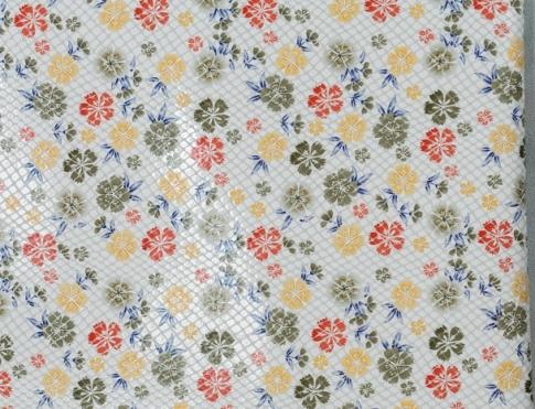 Обувная кожа КРС светлые цветы LAZER 14(3)