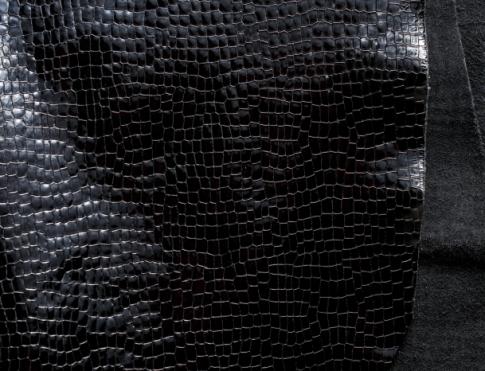 Обувная кожа Лак кукуруза черный